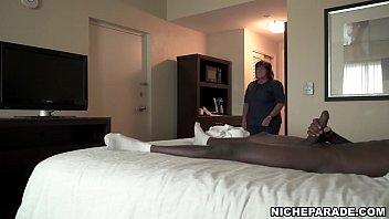 NICHE PARADE - BBW Hotel Maid Strokes Big Black Cock With White Hands - 69VClub.Com