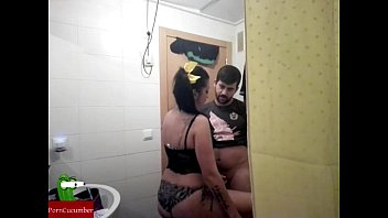 Shitting mature He is shitting in the toilet and they end up fucking