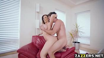 Sara Jay sucking Kyle Masons big cock for money