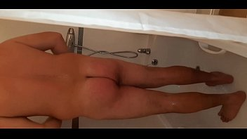 Full video! The stepbrother pulls her to the blowjob and takes her sister in more positions after she gets in the shower.