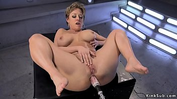 Big tits Milf gets machine in the ass