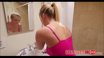 Fucking My Step Sister Bailey Brooke While She Brushes Her Teeth POV