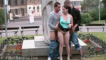 Free teen sex videos bang - Public street sex teens gang bang by a famous statue part 6