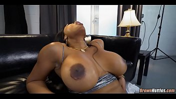 Huge Black Ass and Tits get White cock