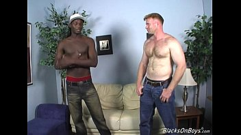 Man on man porn gay Dakota has some manly fun with a black guy
