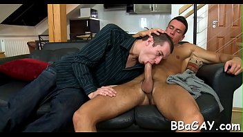Hot gay cock suckers Licking a biggest gay dong