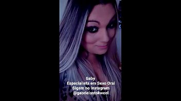 Delirando no sexo oral - Sigam no Instagram @gabrielastokweel - Agende seu hor&aacute_rio comigo pelo whats 11964433253