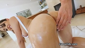 Watch free latina porn Oiled latina booty pounded from behind