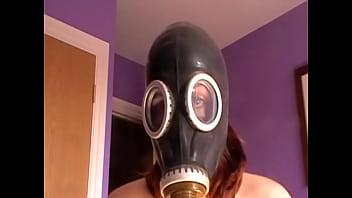 My kinky escort in her gasmask