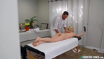 Busty Blonde Gets Massage And Big Cock