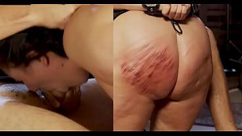 Hard throatfuck of a tortured girl