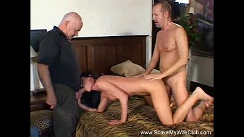 Download amateur wives video samples - Wild brunette milf swinger takes on two