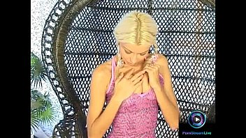 Petite Nikki Blond in pigtails spread and plays her slit thumbnail
