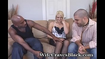 White Wife Shared With Excited Black Guy