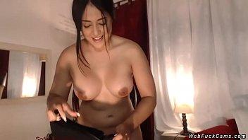 Naked msn webcam Busty camgirl fucking black dildo