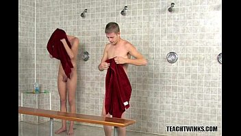 Tight Twinks Showering at School