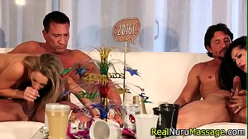Kimmi asian - Spunk faced masseuse fuck