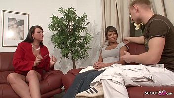 Young Couple Teach to Fuck by German Mature in Threesome