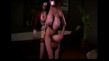 Giant cock futanari great dp fucking