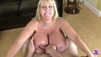 Heavy housewife porn - Mega titted cougar bounces on hard cock