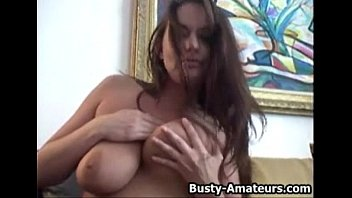 Boob busty leslie style Busty leslie masturbates her pussy with toy after interview