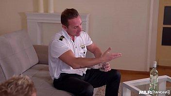 Two Pilots Nail the Gorgeous International Stewardess Anissa Kate thumbnail