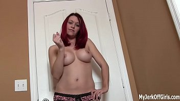 Shoot your hot cum right on my chest JOI