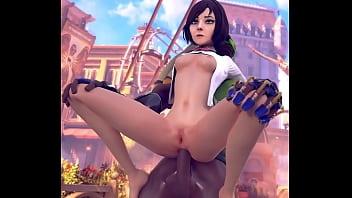 Elizabeth straddled Lucio`s Dick Close Angle