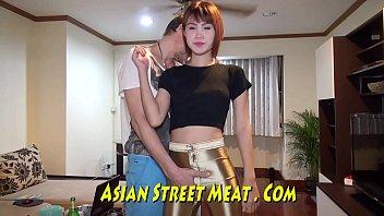 Asian tbe street meat - Mouth fucked asian sperm slurper