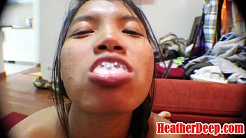 HEATHERDEEP.COM 11 Weeks Pregnant Asian Thai Teen Heather Deep gets Throatpie Blowjob