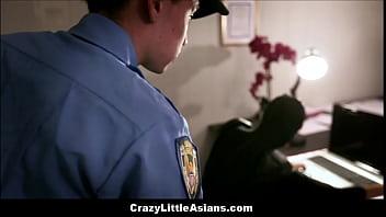Little Asian Teen Ninja Caught And Fucks Latino Boy Security Guard