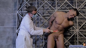 Gay torture art Slave boy tortured by electro