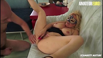 AMATEUR EURO - Italian Amateur Cougar Shoot Her First Porn Movie