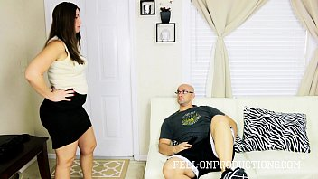 Big Ass Blackmailed MILF Madisin Fucks Son