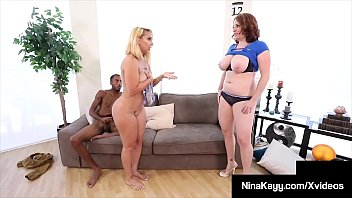 Streaming Video Thick Thighs Nina Kayy & Maggie Green Love A Big Black Cock! - XLXX.video