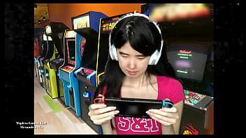 Topless Asian Gamer Girl