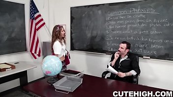 Sexy Brunette Student Gets Banged