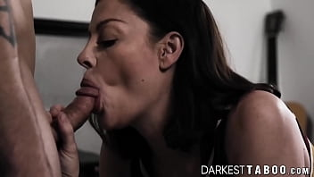 Mature Sovereign Syre sins by getting creampied by stepson