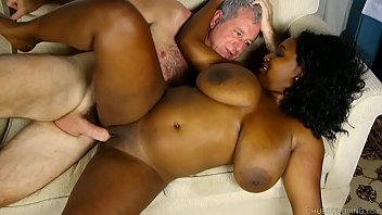 Busty black BBW loves a hard fucking and a facial cumshot