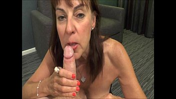 Mature Georgie swallowing