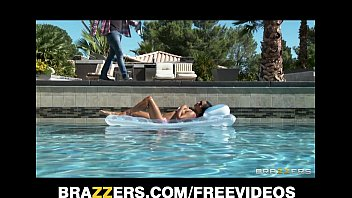 Sexy sun bathing Asian wife Lana Violet fucks her gardener