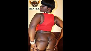Big ass black model entice Candi heat and sinphony red and heaven black on phatnfyne.com