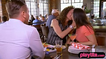 Real amateur couple trying threesome for the first time