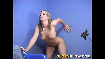 Isabel Ice sucks a donkey kong-sized BBC through gloryhole