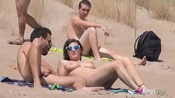Nudist beach in england Sol fucks a guy in a beach surrounded by voyeurs