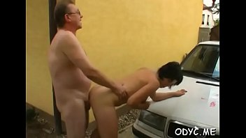 Amateur playgirl lets an aged dude penetrate her cuchy