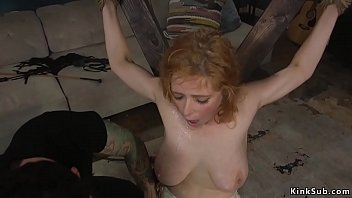 Tied busty wife fucked in bdsm