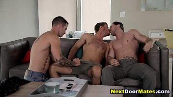 Gay 3 ways pics - Hot straight guy fucked during job interview - gay jock threesome