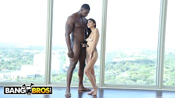 BANGBROS - Michelle Martinez Gets Her Latin Pussy Stretched Out With A Big Black Cock