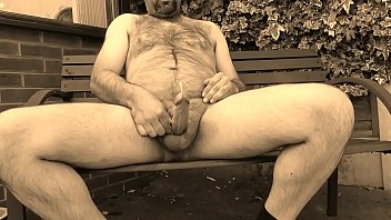 Quick Wank On The Garden Bench